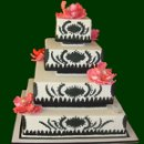 130x130 sq 1317660501294 blackandwhiteweddingcake2