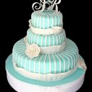 130x130 sq 1317660564801 tiffanyblueweddingcake