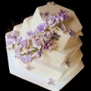 130x130 sq 1317660568842 weddingcakewithlavenderroses
