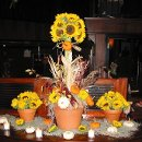 130x130 sq 1349093933840 weddingcenterpiecesunflowers