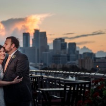 220x220 sq 1475600645932 minneapolis skyline bride and groom at campus club