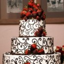 130x130 sq 1456867143625 chcolate strawberry wedding cake