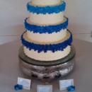 130x130 sq 1456869066356 blue flower wedding cake  cherron k.