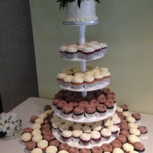 220x220 sq 1417900108162 hughes cupcake tower 2