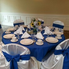 220x220 sq 1417900238158 blue and sunflower wedding table