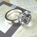 130x130 sq 1206800199671 diamondringpaperweight
