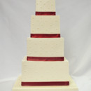 130x130 sq 1402783040829 4 tot buttercream wedding cake single dot red fond