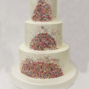 130x130 sq 1470855978266 3tot white buttercream sprinkles wedding cake 1
