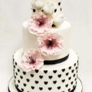 130x130 sq 1470856455294 3tot white pink  black fondant cascading flowers h