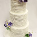 130x130 sq 1470857310655 3tot white  purple flower wedding cake 8 edit2
