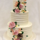 130x130 sq 1470857355200 3tot white buttercream  multicolor roses baseball