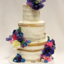 130x130 sq 1470926301855 tot naked cake multicolor flowers wedding cake 4