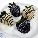 130x130 sq 1470932333024 chocolate and white chocolate strawberries group 5