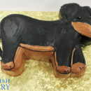 130x130 sq 1471012054861 sculpted dacshaund weinner dog bown black 3 web