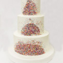 130x130 sq 1471112177106 3tot white buttercream sprinkles wedding cake 8 we