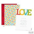 Brighten guests' days with the news of your upcoming wedding on this bright and colorful Jean M save the date card.