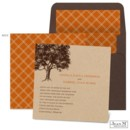 The tree design, the natural kraft paper - this Jean M wedding invitation sets a tone of rustic nature for your wedding!
