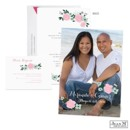 Pink roses and your photo on this Jean M wedding invitation hint at your rosy future! The two-sided wedding invitation has your photo and personalization on the front and your wording printed on the back.