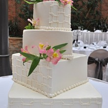 220x220 sq 1295815567480 wed2010geometricweddingcake