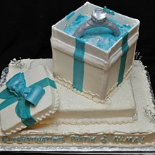 220x220 sq 1295816482401 3dengagementcakewithringandbox
