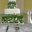 130x130 sq 1310418233544 weddingcakegreenwhitevinetiers