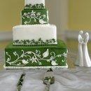 130x130 sq 1310418233544 weddingcakegreenwhitevinetiers