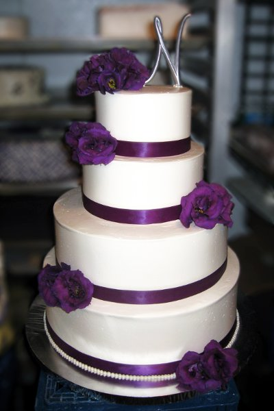 simple purple wedding cakes some crust bakery claremont ca wedding cake 20006