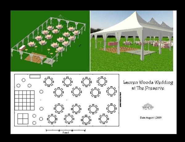 Chairs dance floor outdoor ceremony outdoor reception for Wedding floor plan app
