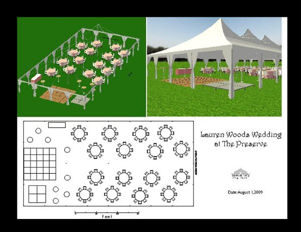 Chairs dance floor outdoor ceremony outdoor reception for Wedding reception layout tool