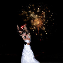 220x220 sq 1478800249533 bride and groom with fireworks