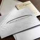130x130 sq 1353107711066 weddinginvitationswhiteembossedflowers
