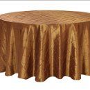 130x130 sq 1323307013662 copperpintuckroundtablecloth
