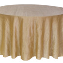 130x130 sq 1405107618597 120 inch champagne round tablecloths crinkle taffe