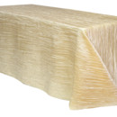 130x130 sq 1405109993046 90 x 156 inch champagne tablecloths crinkle taffet