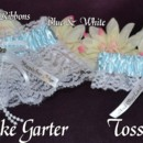 130x130 sq 1388705308407 pumpkin coach garter set blue  white and they live