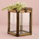 130x130 sq 1399653388683 9554rustic wood and glass box with hinged lid4e181