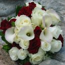 130x130 sq 1276714400564 bridesbouquetcreamandred