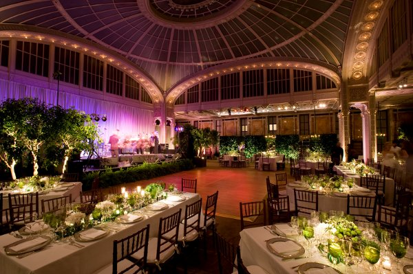 Green Centerpieces Dance Floor Fall Indoor Reception Place