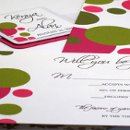 130x130 sq 1355257546321 pinkgreenpolkadotweddinginvitation4