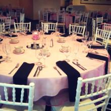 220x220 sq 1418432546951 judis vow renewal table setting