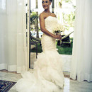 130x130 sq 1420146691493 strapless mermaid organza ruffles wedding dress by