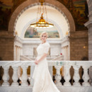 130x130 sq 1420146857575 modest lace overlay wedding dress with sleeves and