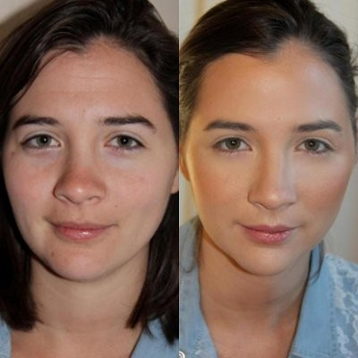 Wedding Day Makeup Before And After : Airbrush or regular makeup? Weddings, Beauty and Attire ...