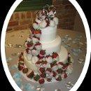 130x130 sq 1364255555452 mooshuswhitechocolatecoveredstrawberryweddingcake