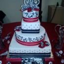 130x130 sq 1381865154194 mooshus red and black wedding cake