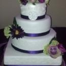 130x130 sq 1381865167170 mooshus wedding cake purple white