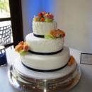 130x130 sq 1382348552224 mooshus wedding cake simple scroll and ribbon