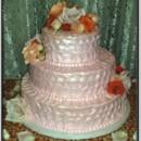 130x130 sq 1413953860180 mooshus pearl pink textured wedding cake