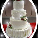 130x130 sq 1413959146952 mooshus 80th wedding cake ivory lace