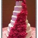 130x130 sq 1427309794081 mooshus hot pink roses 7 tier wedding cake white s